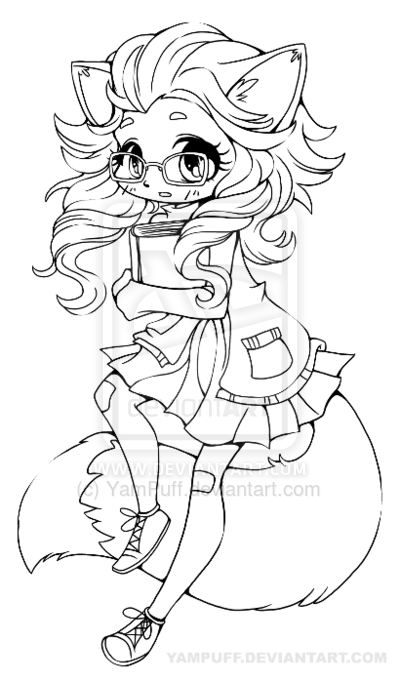 chibi pretty mermaid coloring pages - photo#16