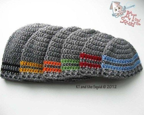 Two stripe beanie free crochet pattern | Crocheting | Pinterest ...