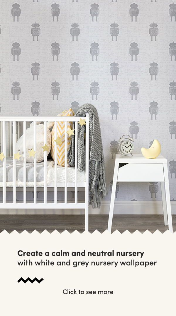 Looking For A White And Grey Nursery Wallpaper With Cool Refreshing Edge Then Look No Further Cute Fun Designs That Pack Punch In Your