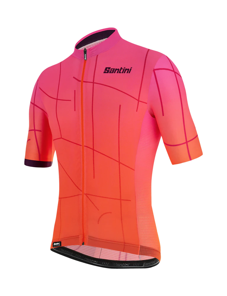 by Santini 2019 Men's Tono Cycling Jersey Made in Italy Orange