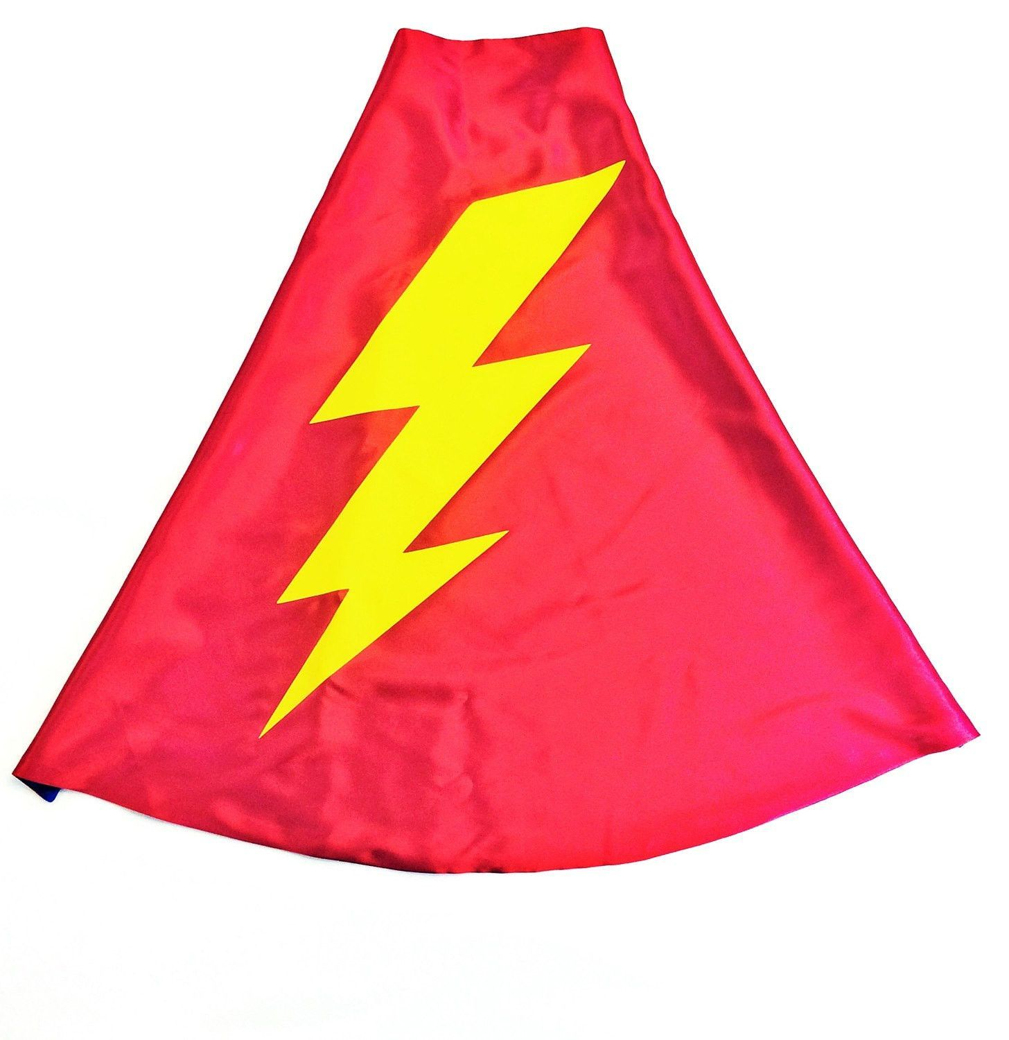 Red and blue superhero lightning bolt cape flash double sided red and blue superhero lightning bolt cape flash double sided made to order ships buycottarizona Image collections