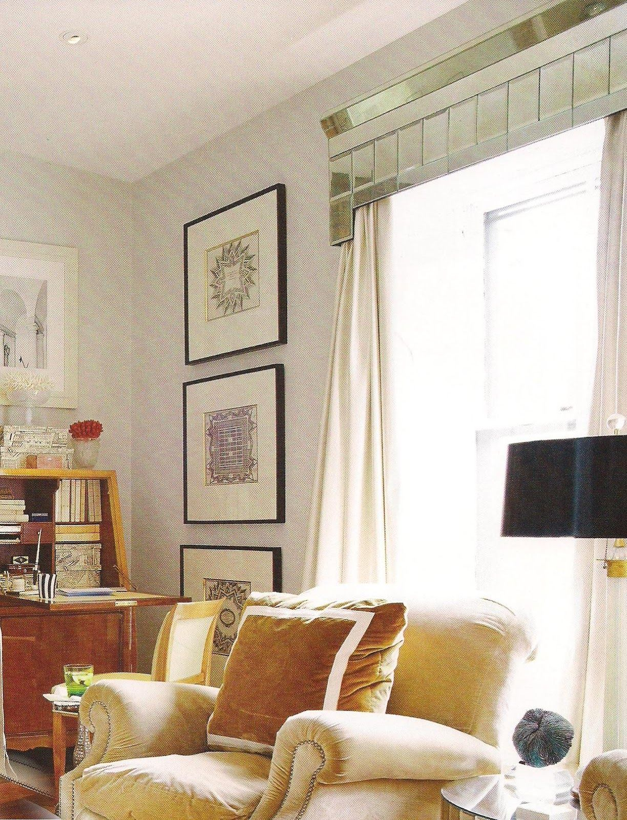 Fabulous Mirrored Cornice Cornice Box Pelmets Window Treatments
