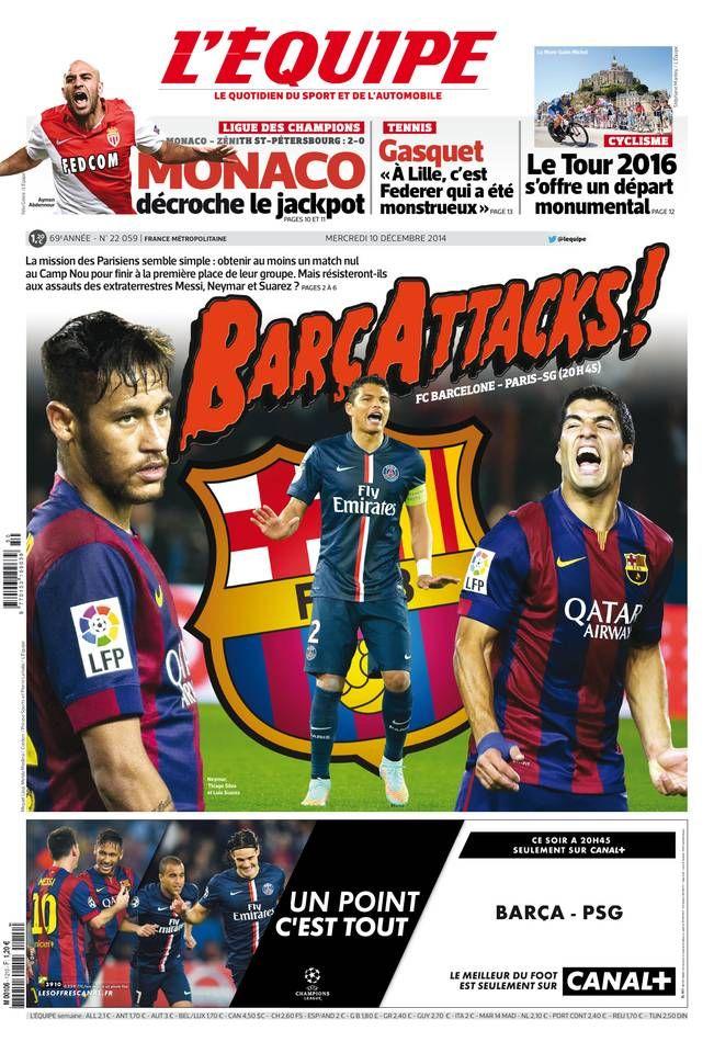 L'Équipe Mercredi 10 Décembre 2014 N° 22059 Sport