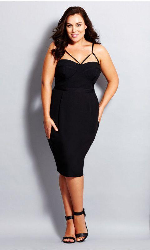 Undress Me Strappy Sheath Dress in 2019 | Plus size black ...