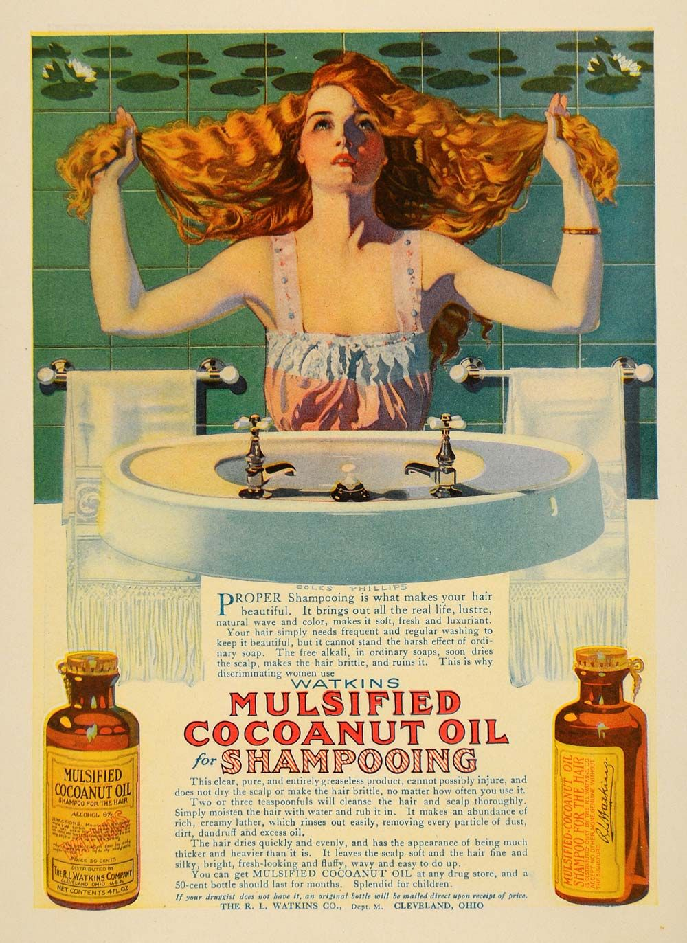Coles Phillips Advertisement For Coconut Oil Vintage Pinups Ads