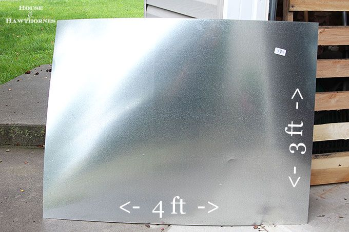 Diy Zinc Top Table Do It Yourself Metal Dining Table
