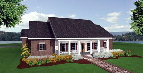 Colonial Country House Plan 64544 Rear Elevation