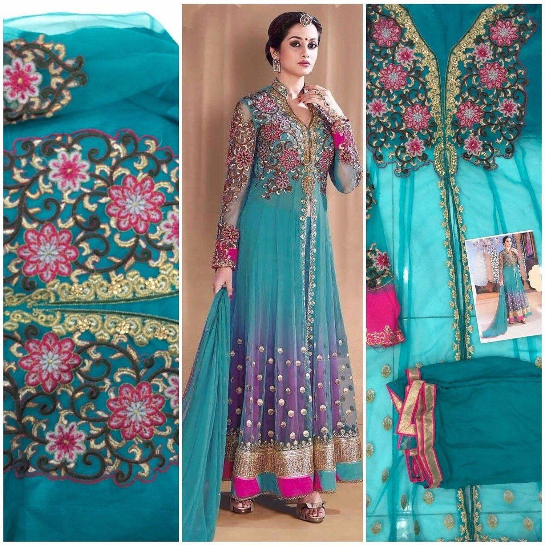 New India Stylish Designer Bollywood Party Anarkali Suit Salwar ...