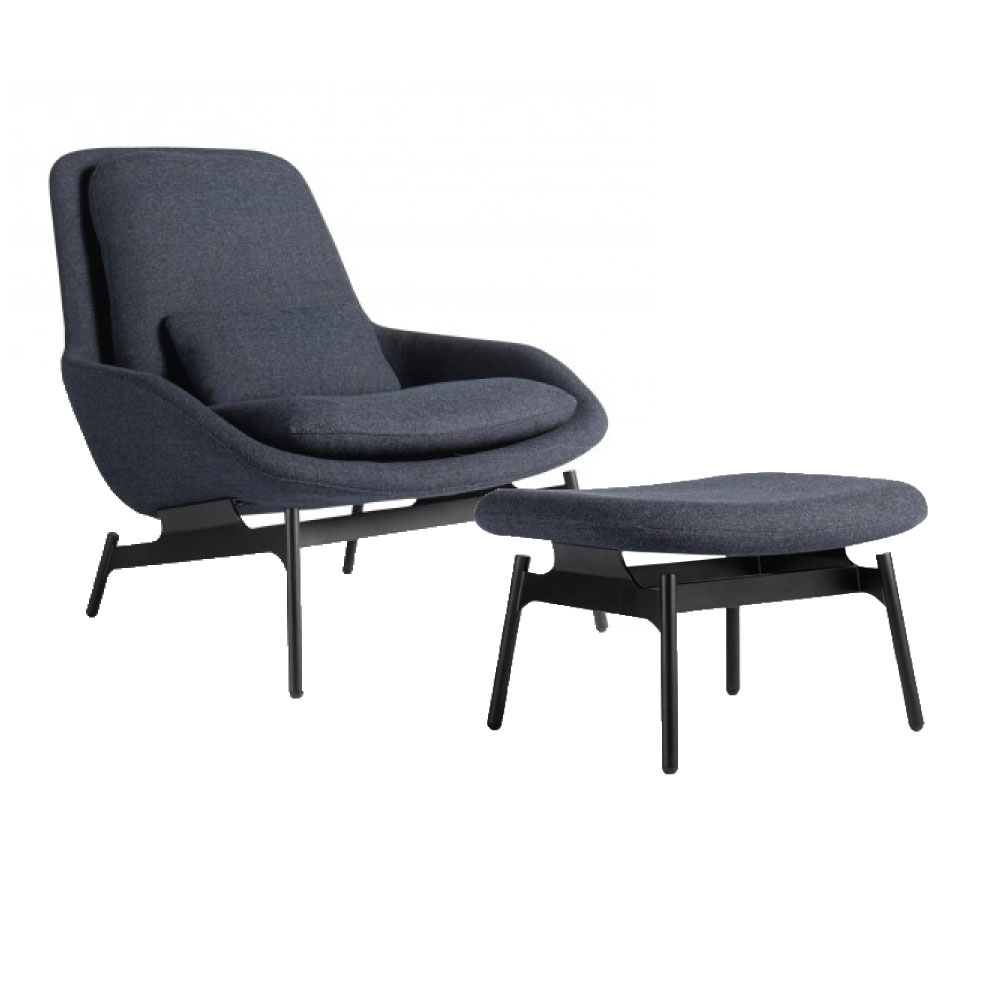 Clutch Lounge Chair In Edwards Light Grey And Walnut By Blu Dot   Living    Pinterest   Lights