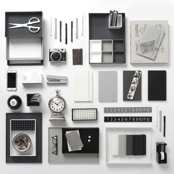 Pin By Forever Meuf On Upcoming Desk Accessories Office Modern Office Supplies Grey Desk