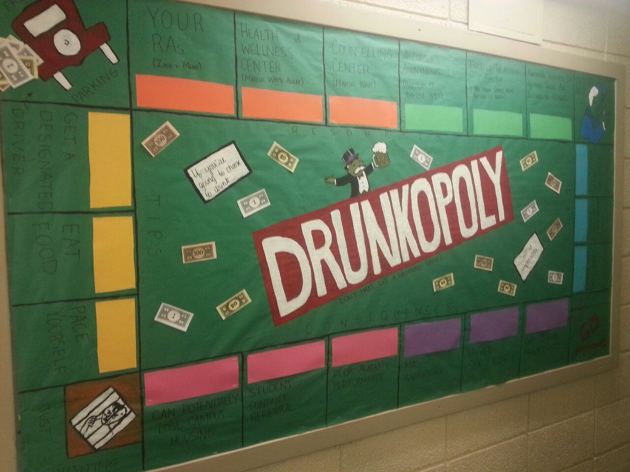 Drunkolpoly Bulletin Board about Alcohol Safety and