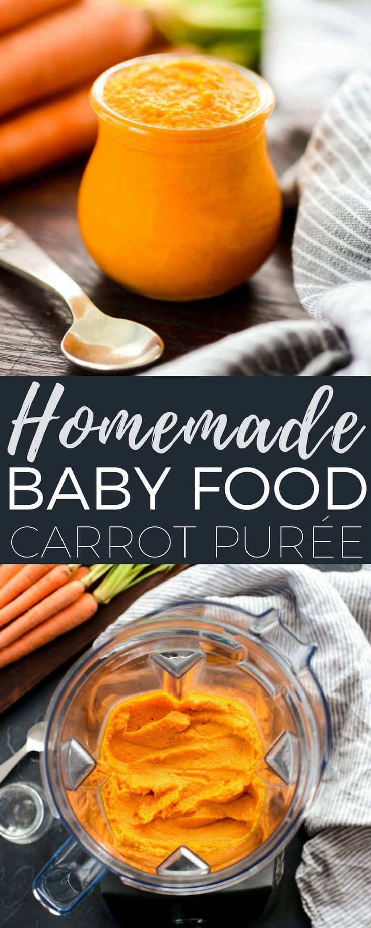 Homemade Baby Food Carrots are so easy to make and only ...