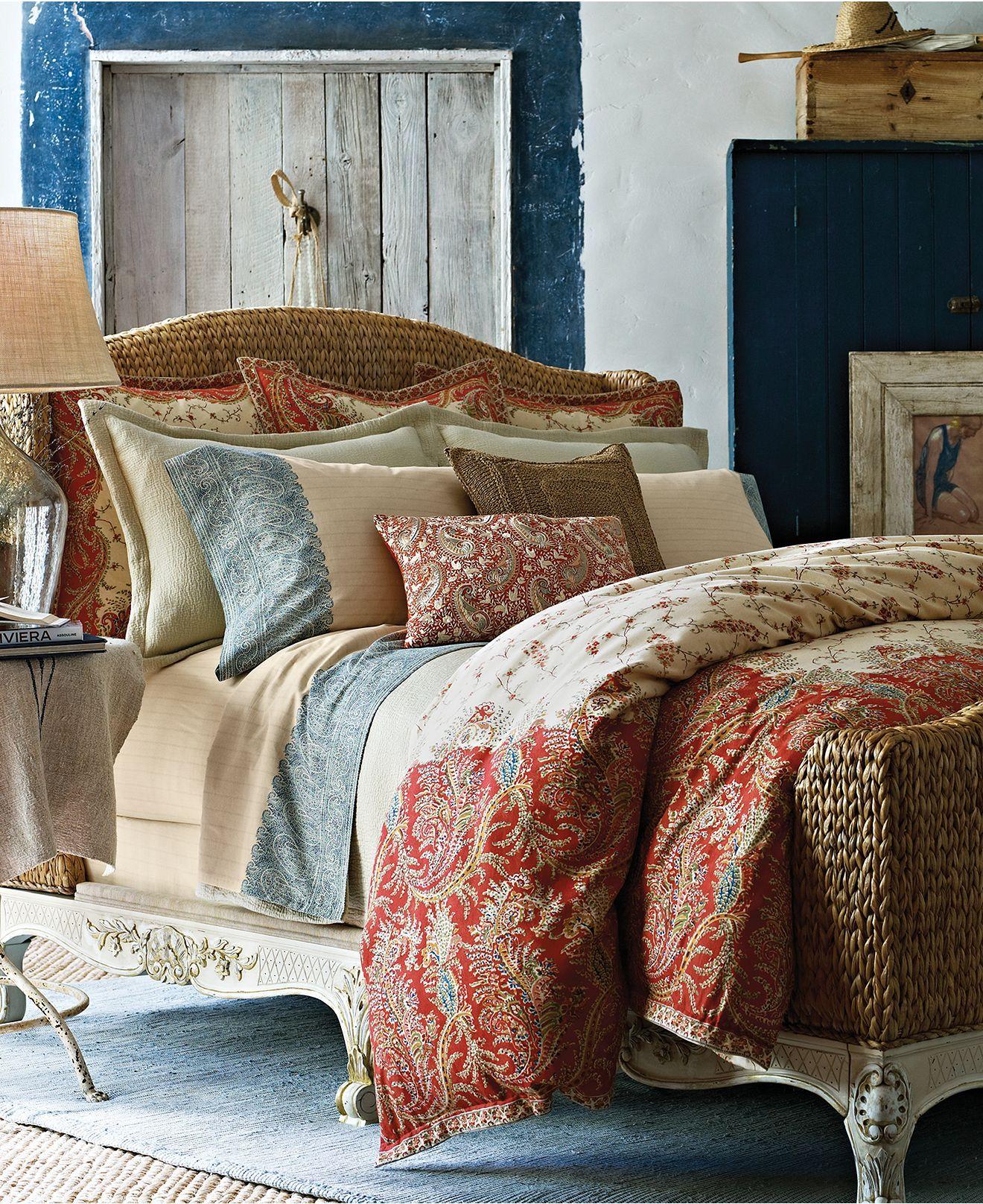Ralph Lauren Hotel Collection Bedding: CLOSEOUT! Lauren Ralph Lauren Home Mirabeau Paisley
