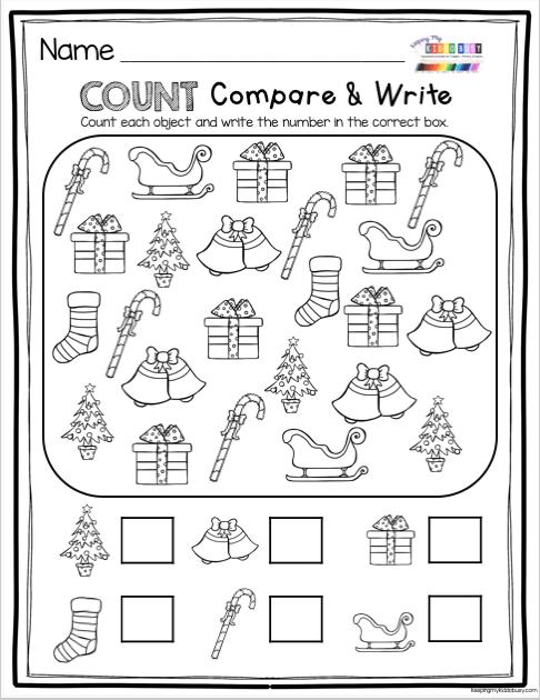 December Math And Literacy Pack - FREEBIES! Christmas Kindergarten, Christmas  Math Worksheets, December Math