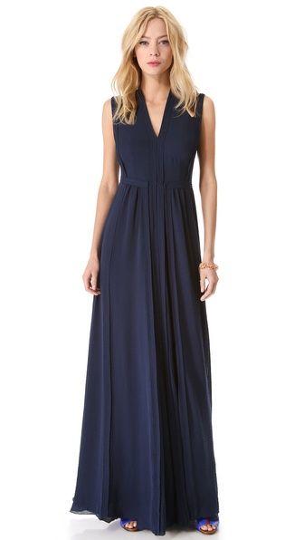 Rebecca Taylor - Pleated Maxi Dress