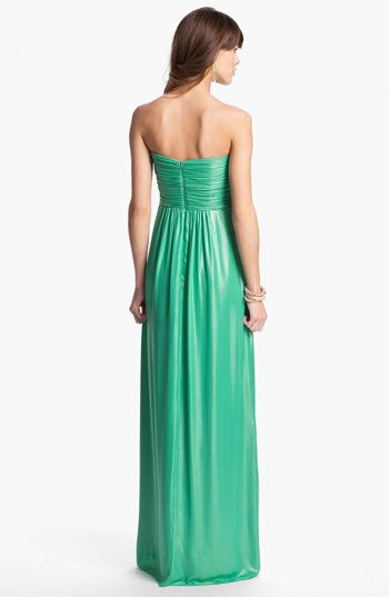 Laundry by Shelli Segal Shimmer Chiffon Gown | Nordstrom