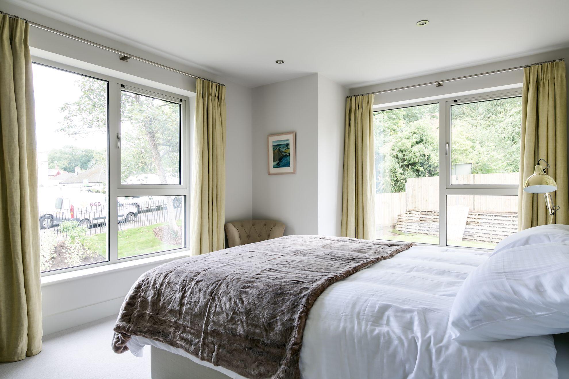 Double aspect windows in bedroom of Plot 1