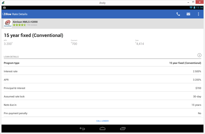 Zillow Mortgage Calculator for Android App Pick