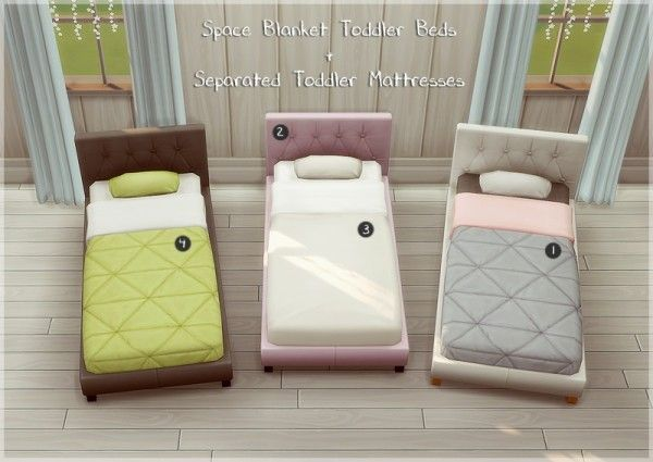 Allisas Space Blanket Toddler Beds Sims 4 Bedroom Sims