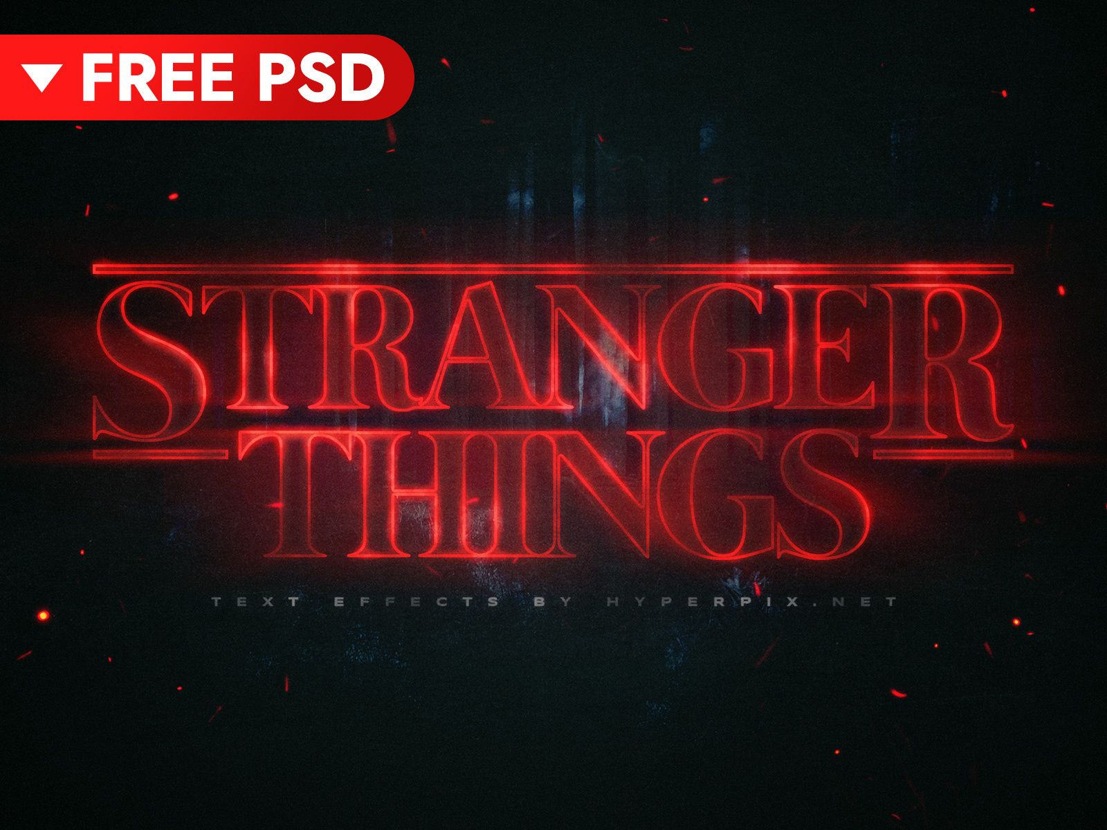 Free Download Stranger Things Text Effect Text Effects Logo Templates Psd Photoshop Typography