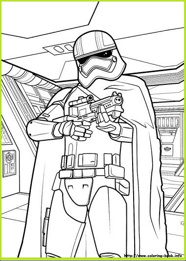 Imágenes para colorear de Star Wars CAPITAN PHASMA CAPTAIN COLORLESS ...
