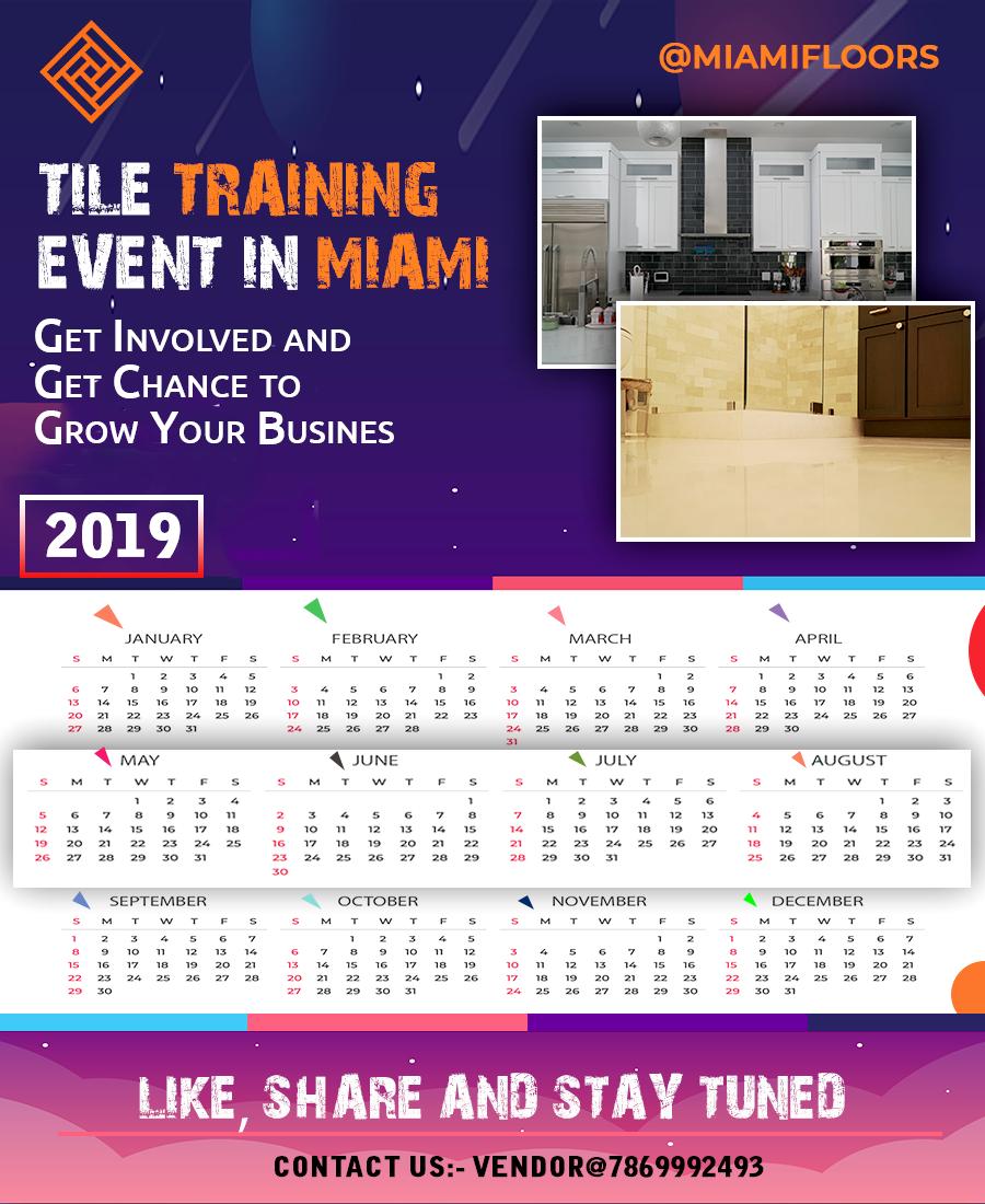Miami Event Calendar 2019 Event Calendar 2019 for Tile Industry in Miami | Event Calendar