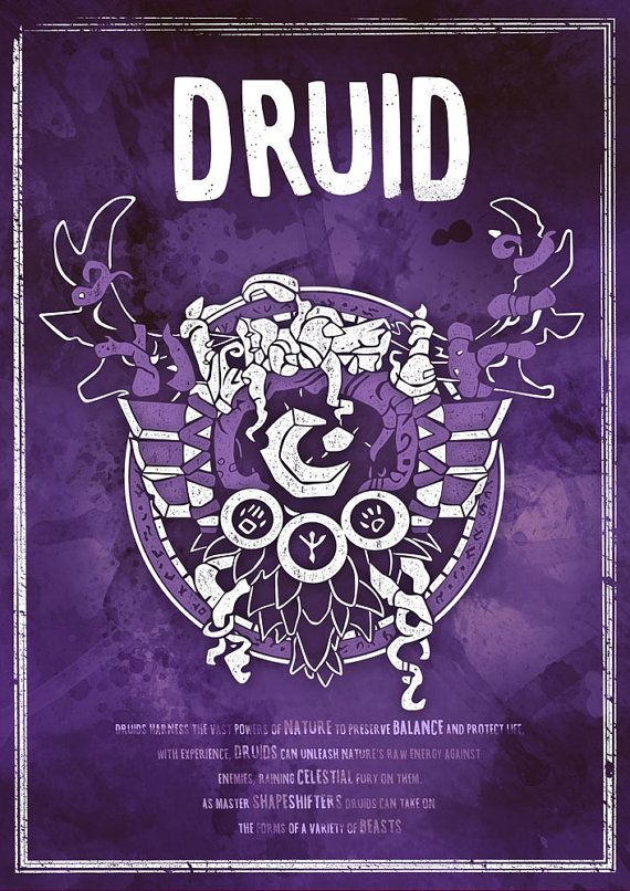 Druide Poster Posters Pinterest Rpg Gaming And Warcraft Art