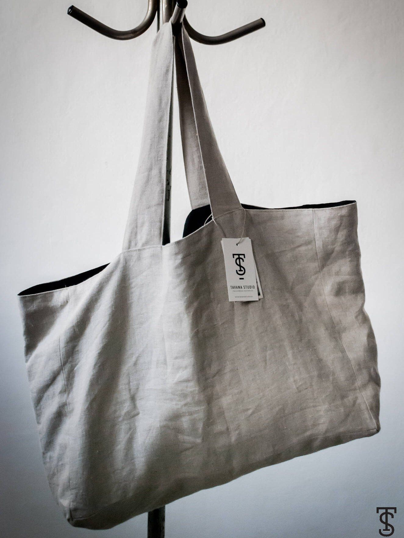 13 colors Linen bag natural oversize bag washed linen shoulder bag weekender sac cabas Large linen tote bag beach shopping bag XL Large bag