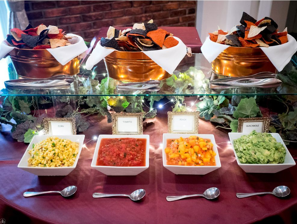 chips and salsa bar vegan wedding at the event center at blue in bethlehem pa south of the. Black Bedroom Furniture Sets. Home Design Ideas