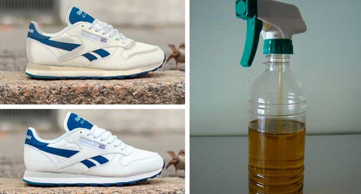 Resultado de imagen para zapatillas blancas truco vinagre