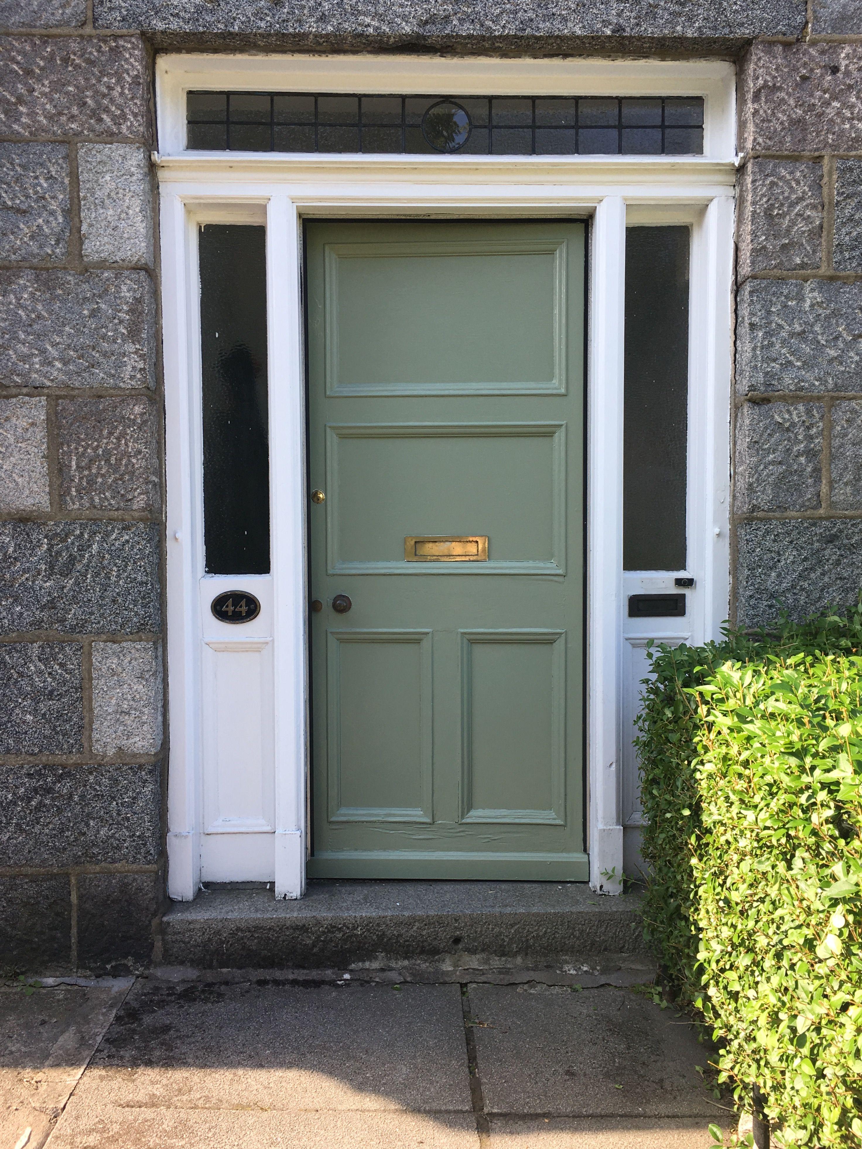 Front Door Painted In Dulux Green Glade Painted Front Doors