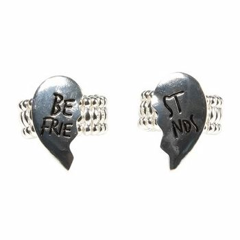BFF Heart Ring Set : $1.59 + Free S/H (1/8 only)