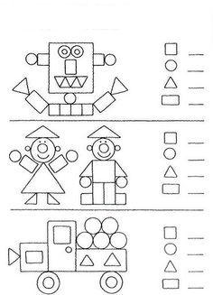 Boyamasayfası Boyama Okulöncesi şekiller Geometrik şekiller