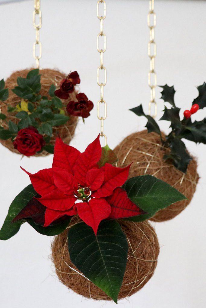 Julekokedama - svævende juledekorationer i rød og guld -