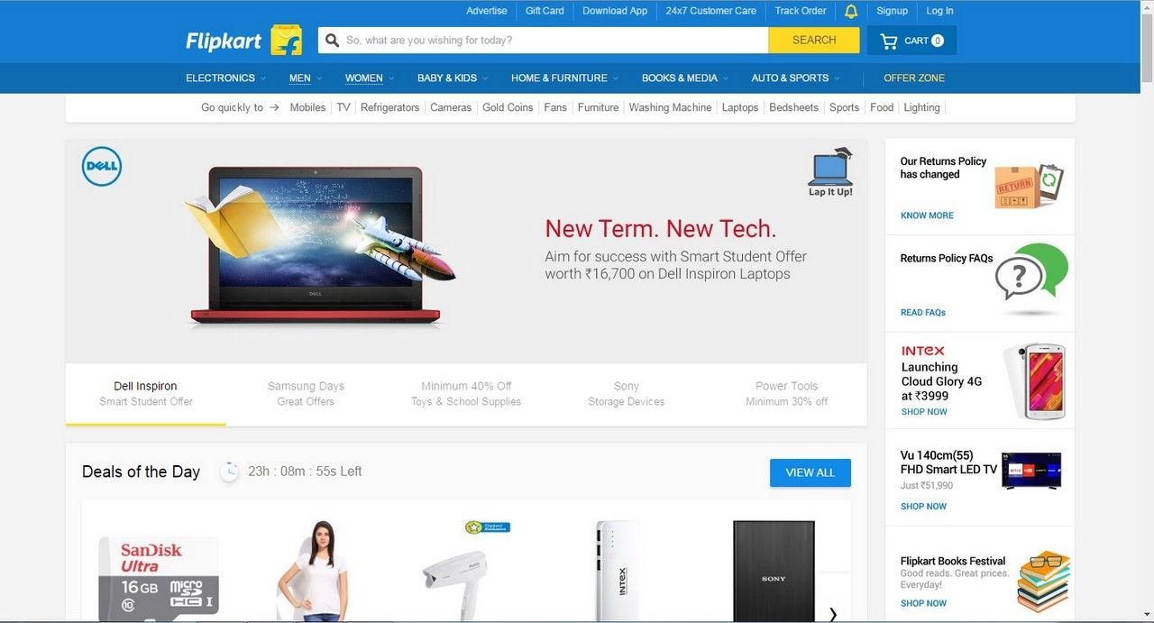 Flipkart becomes the first e-commerce company in the country