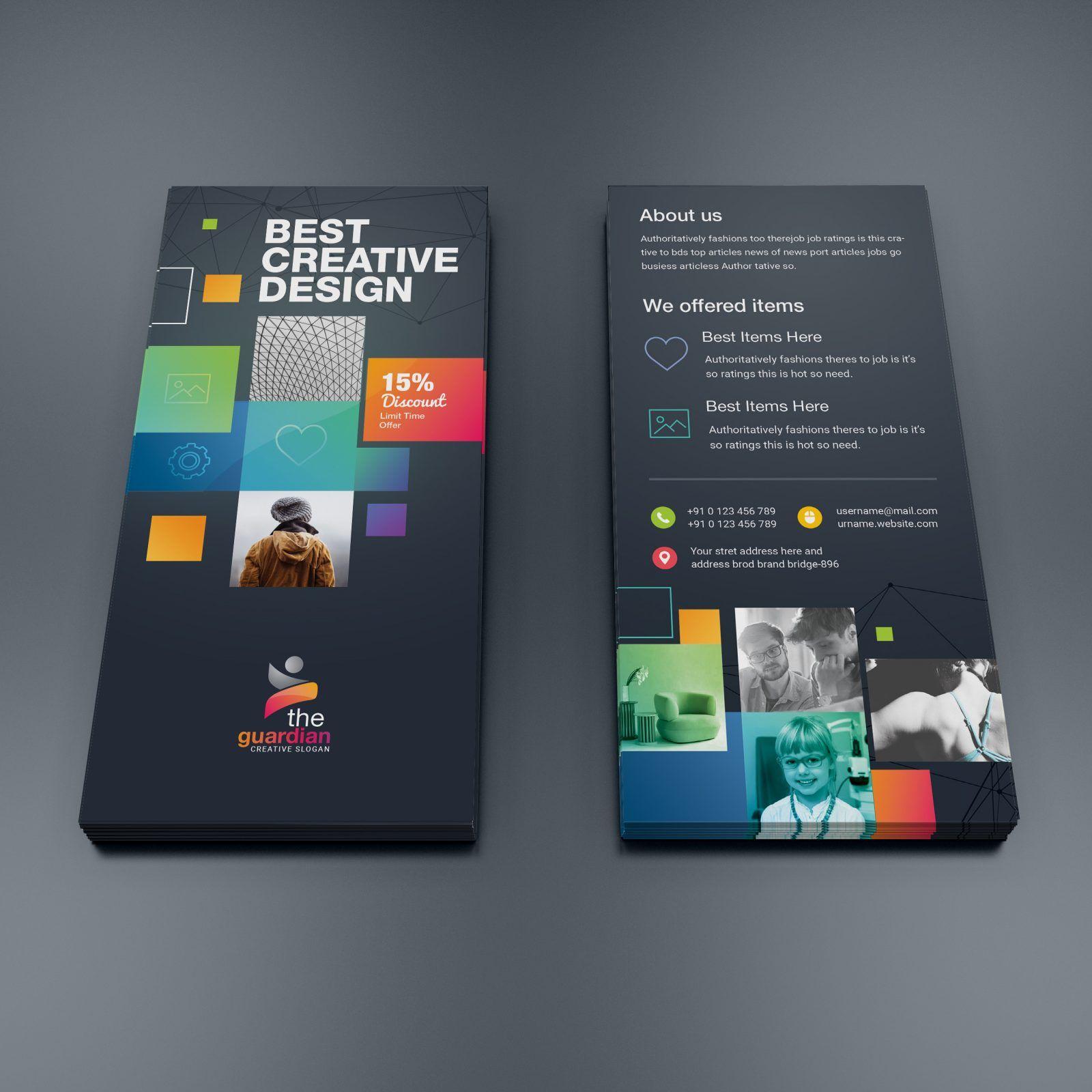 Godlike Elegant Corporate Dl Flyer Template 000955 Ideas