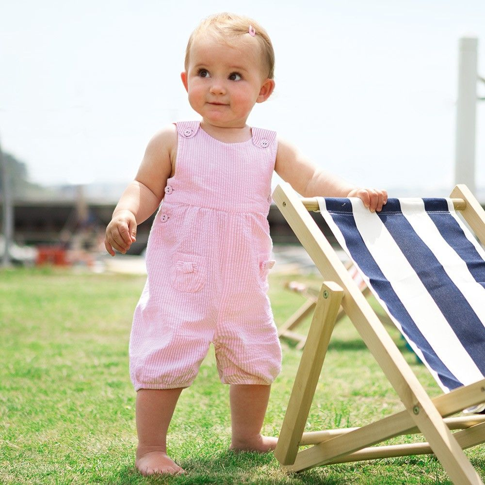 d52763f6d Stripe Baby Dungarees