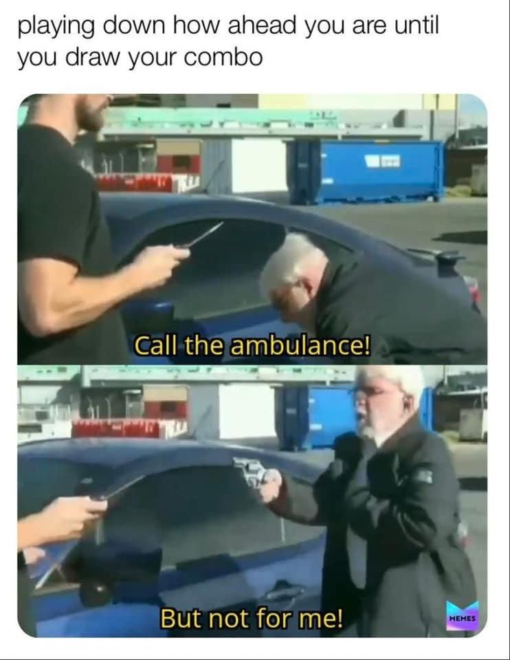 Call An Ambulance But Not For Me Mtg Call An Ambulance But Not For Me Mtg Memes Marvel Memes Jokes Before downloading you can preview any song by mouse over the play button and click play or click to download button to download hd quality mp3. call an ambulance but not for me mtg