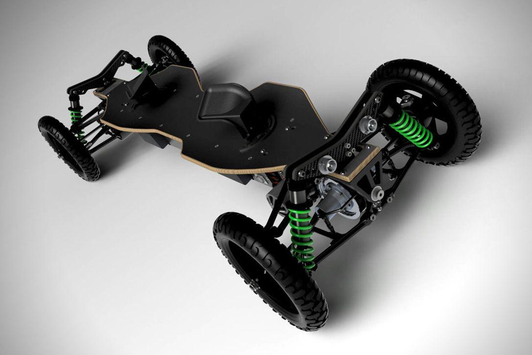 BajaBoard OffRoad Electric Skateboard  HiConsumption  Big Boy Toys  Motorized skateboard