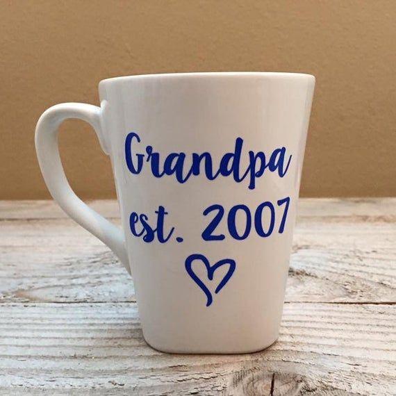 Grandpa Est Mug - Custom Coffee Mug, Becoming Grandpa, Baby Announcement, Surprise Mug, Gift For Gra #bestgiftsforgrandparents
