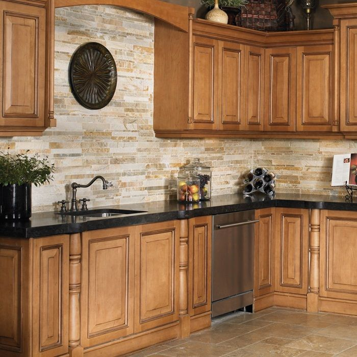 Kitchen Paint Colors 2019 With Golden Oak Cabinets And: Golden Gate Natural Stone Tumbled Quartzite Tile