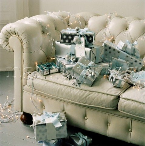 Image result for chesterfield sofa christmas