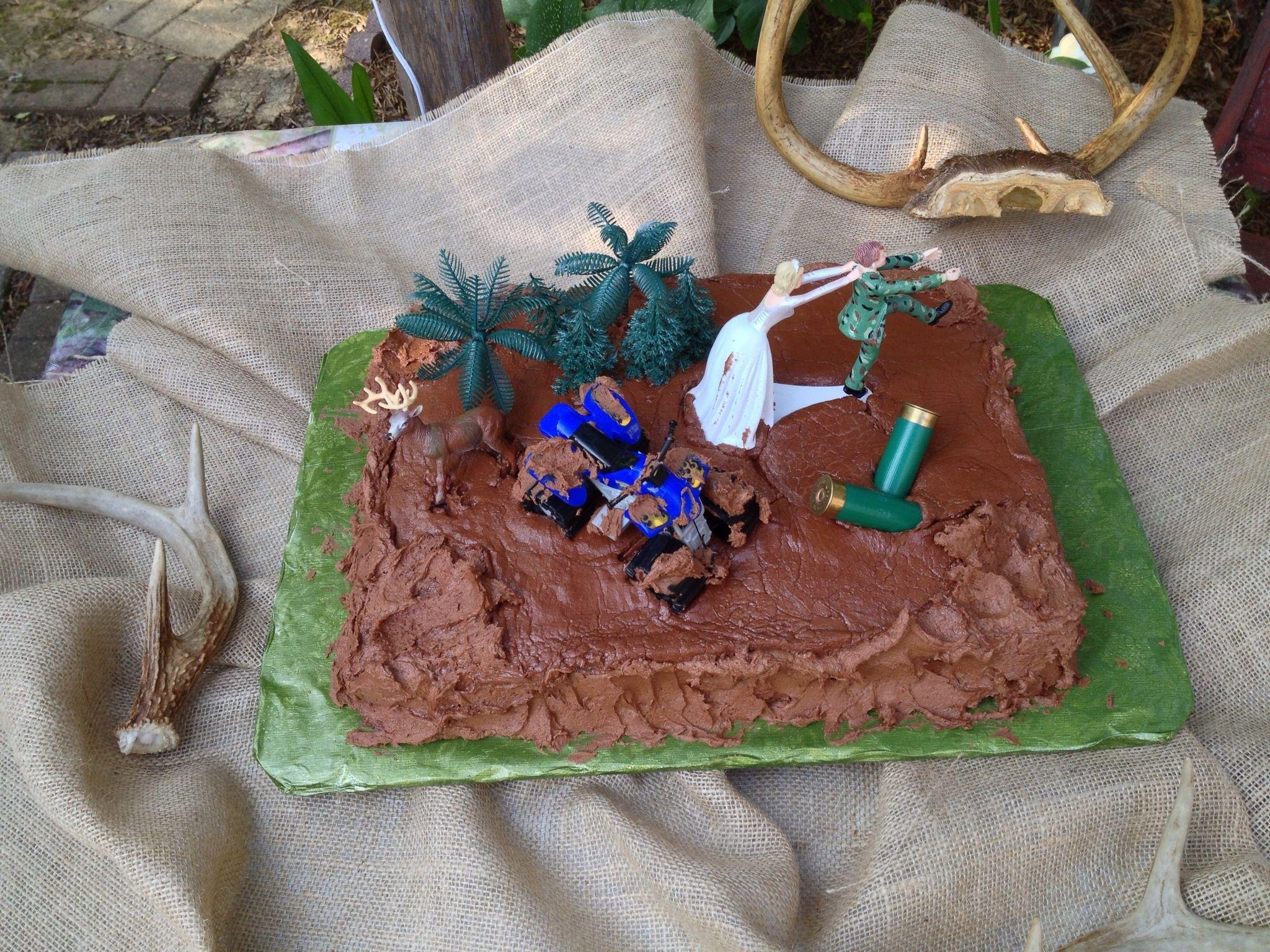 Mud riding grooms cake.  2013