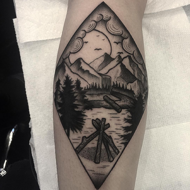Nature scene west hollywood tattoo and piercings for Generation 8 tattoo