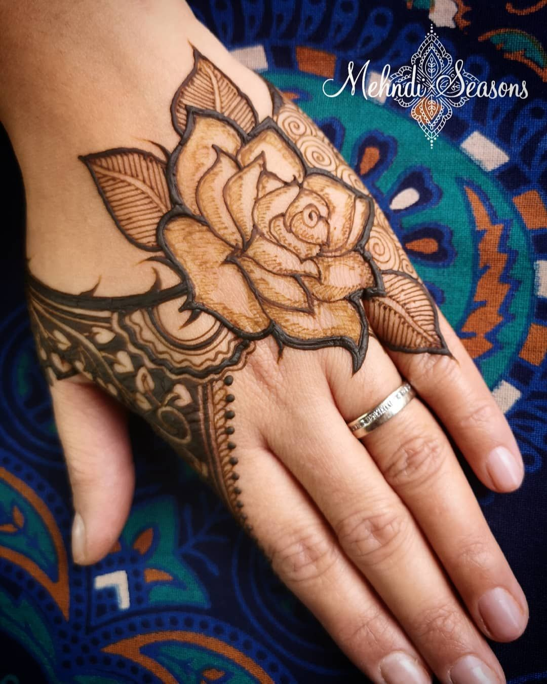 Image May Contain 1 Person Closeup Mehndi Designs Mehndi Designs For Girls Rose Mehndi Designs