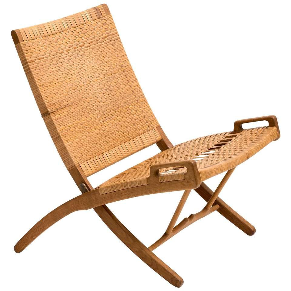 Hans Wegner Folding Chair For Johannes Hansen Model Jh512 1950s