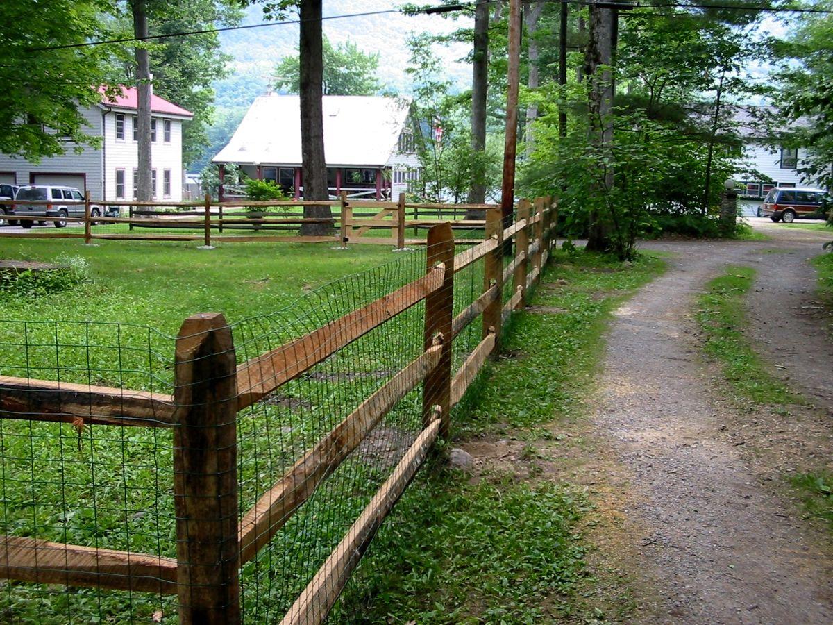 Split Rail Fence Garden Fences Pinterest Split rail fence