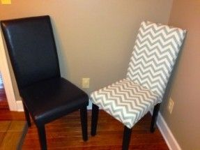 Reupholster Leather Dining Room Chair With Fabric Google Search
