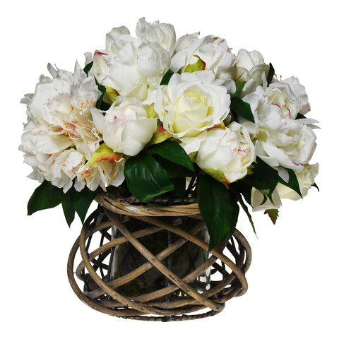 Cream peonies artificialflowers fakeflowerstems silkflowers buy artificial fake silk flower arrangements online australia mightylinksfo