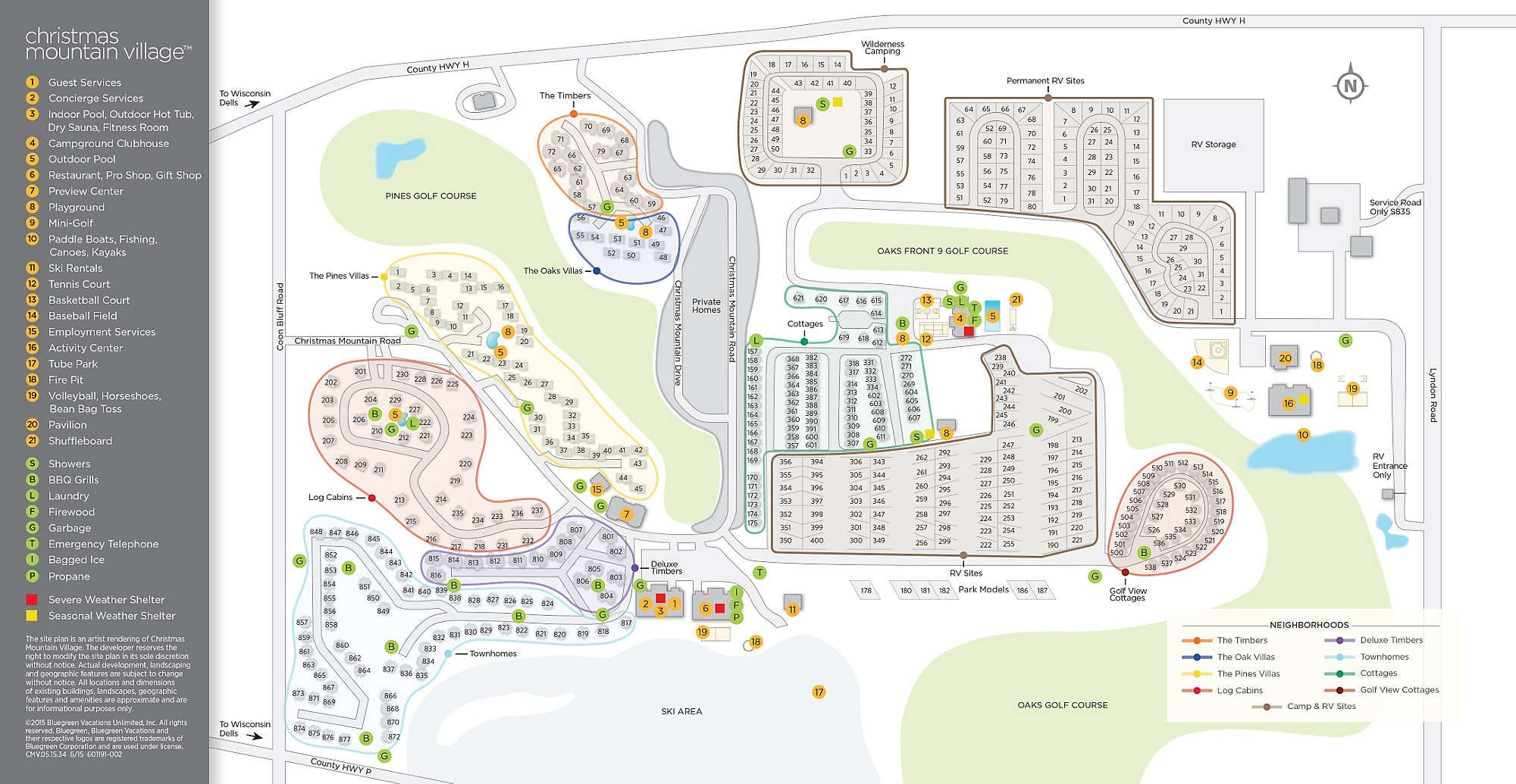 christmas mountain village site map - Bluegreen Christmas Mountain